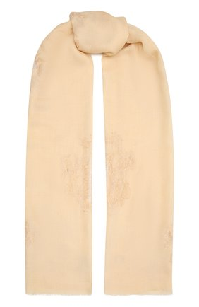 Женская шаль из шелка и шерсти VINTAGE SHADES светло-бежевого цвета, арт. 32293   Фото 1