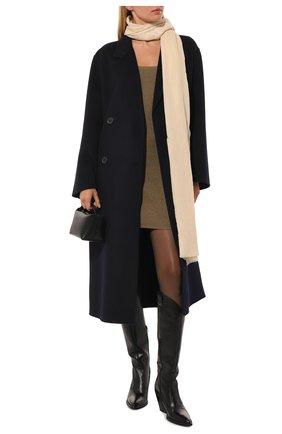 Женская шаль из шелка и шерсти VINTAGE SHADES светло-бежевого цвета, арт. 32293   Фото 2
