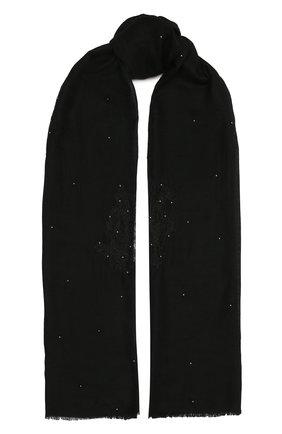 Женская шаль из шелка и шерсти VINTAGE SHADES черного цвета, арт. 32293   Фото 1