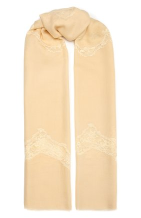Женская шерстяная шаль VINTAGE SHADES желтого цвета, арт. 8999   Фото 1