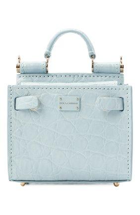 Женская сумка 62 sicily micro DOLCE & GABBANA голубого цвета, арт. BI1404/A2V87/CYAC | Фото 1