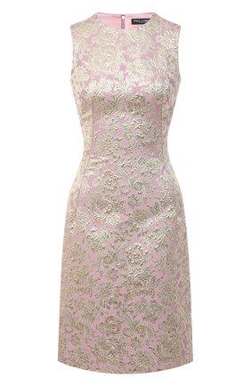 Женское платье DOLCE & GABBANA золотого цвета, арт. F6G4AT/HJMLB | Фото 1
