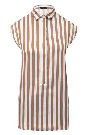 Женская шелковая рубашка KITON бежевого цвета, арт. D48410K05T72 | Фото 1