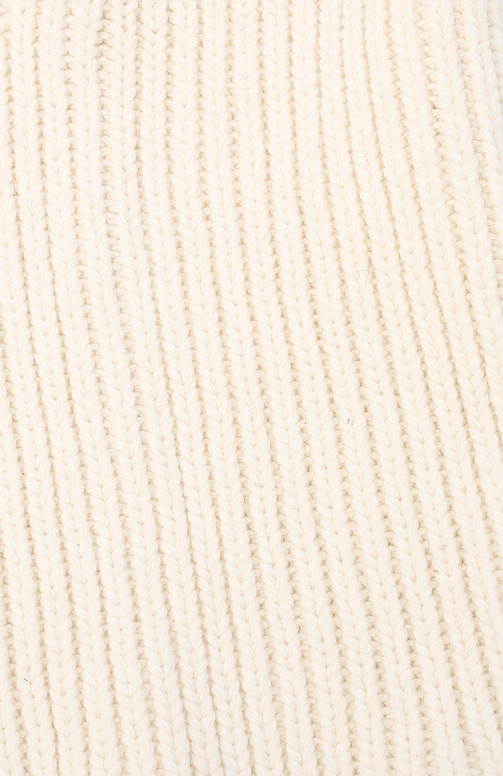 Детского хлопковая шапка-балаклава CHOBI бежевого цвета, арт. WH-3012 | Фото 3