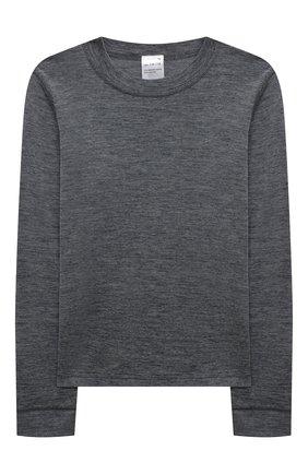 Детский комплект из лонгслива и брюк WOOL&COTTON серого цвета, арт. HRUFP | Фото 2