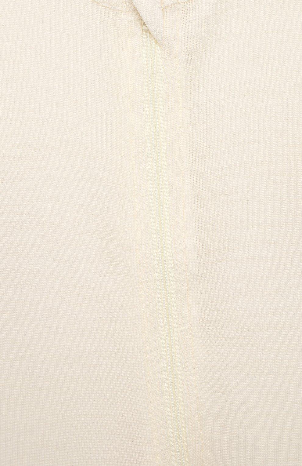 Детский комбинезон из шерсти и хлопка WOOL&COTTON бежевого цвета, арт. OMLRB | Фото 3