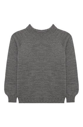 Детский пуловер ZHANNA & ANNA серого цвета, арт. ZAG12122020 | Фото 1