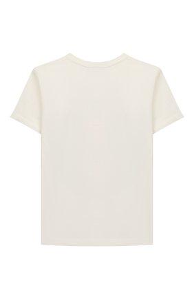 Детская хлопковая футболка VERSACE белого цвета, арт. 1000052/1A00124/8A-14A | Фото 2