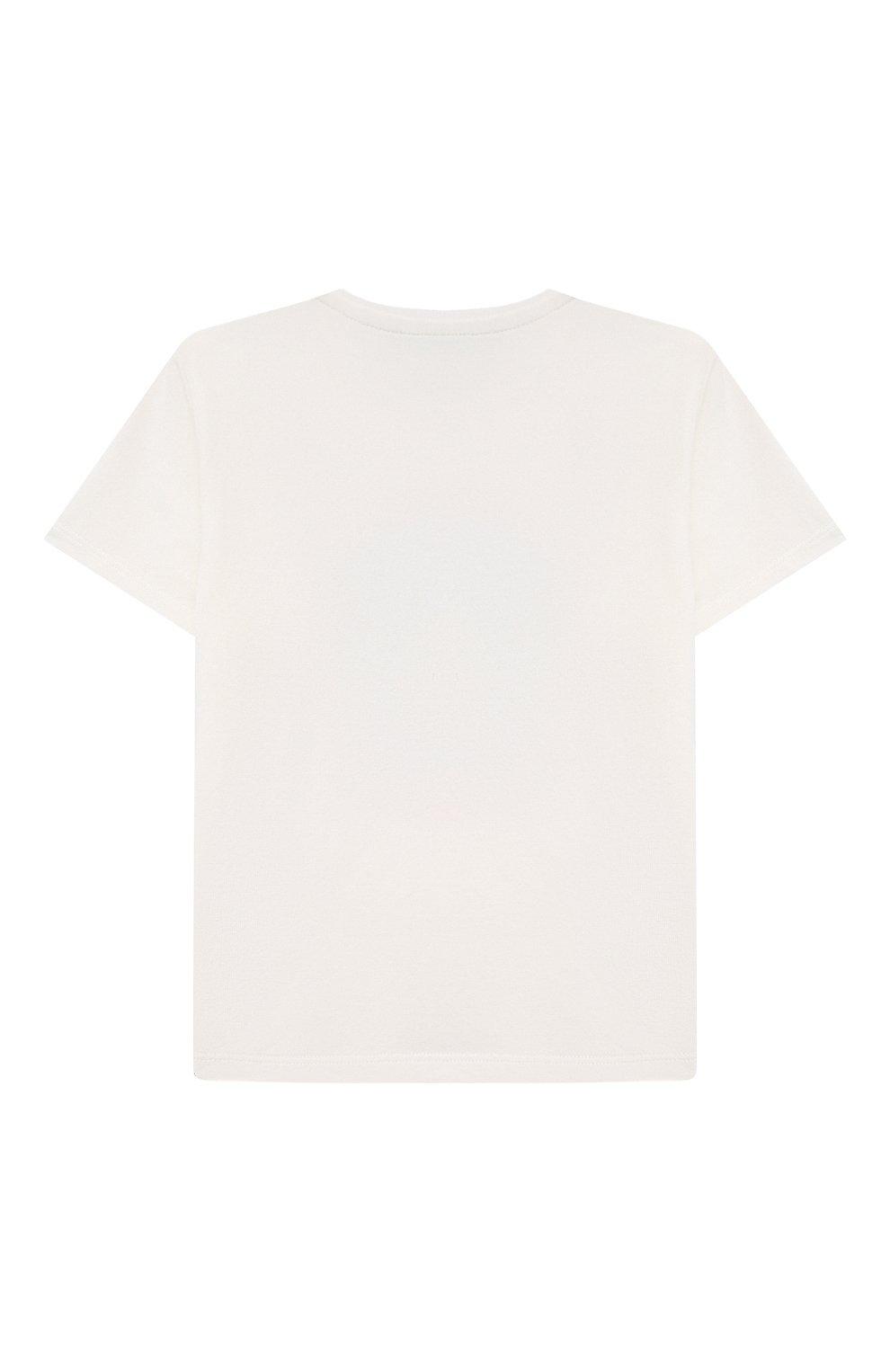 Детский хлопковая футболка VERSACE белого цвета, арт. 1000101/1A00122   Фото 2