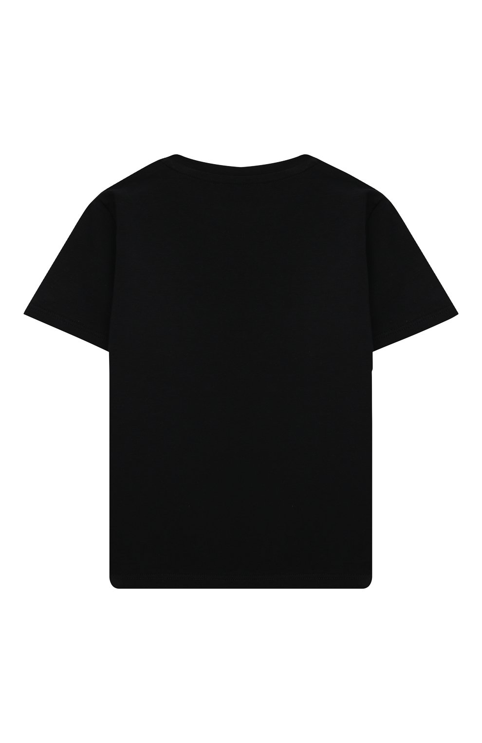 Детский хлопковая футболка VERSACE черного цвета, арт. 1000102/1A00229 | Фото 2