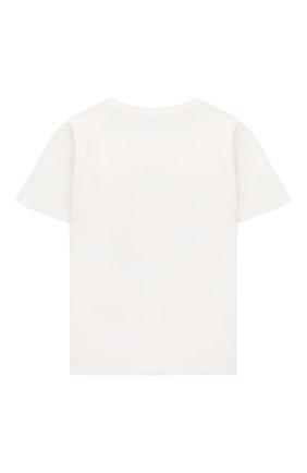 Детский хлопковая футболка VERSACE белого цвета, арт. 1000102/1A00229 | Фото 2
