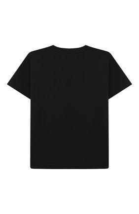 Детский хлопковая футболка VERSACE черного цвета, арт. 1000102/1A00268 | Фото 2