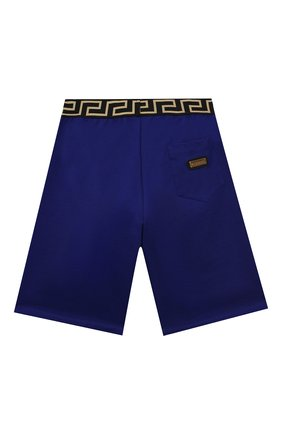 Детские хлопковые шорты VERSACE синего цвета, арт. 1000124/1A00014/8A-14A | Фото 2