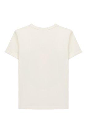 Детская хлопковая футболка VERSACE белого цвета, арт. 1000129/1A00189/8A-14A | Фото 2