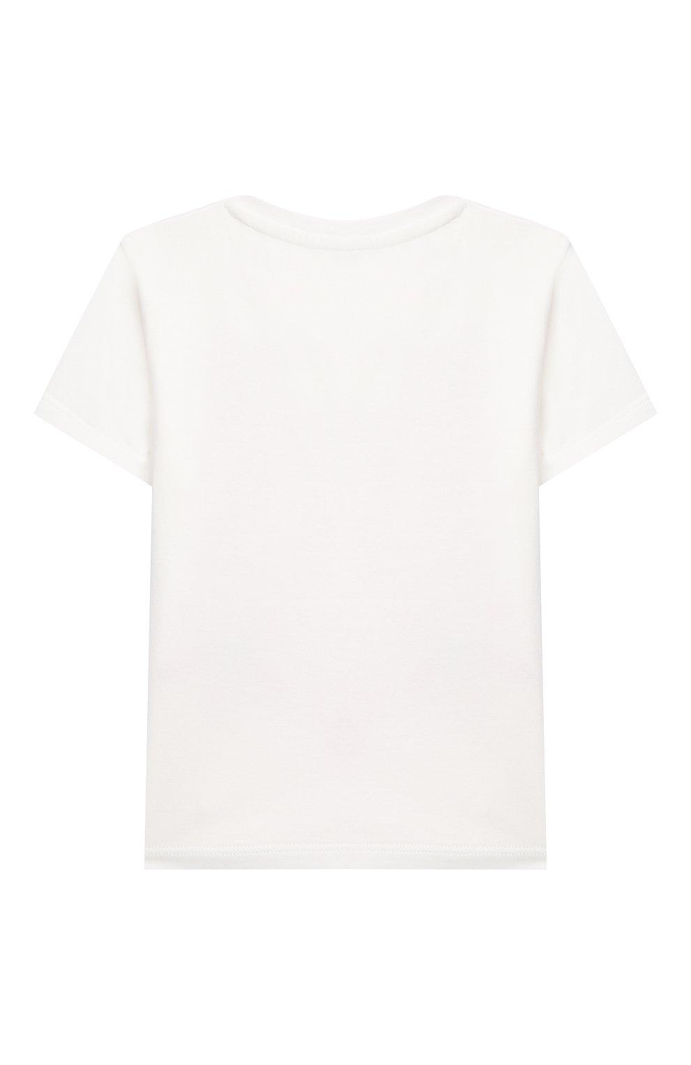 Детский хлопковая футболка VERSACE белого цвета, арт. 1000152/1A00121 | Фото 2