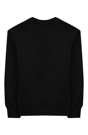 Детский хлопковый свитшот VERSACE черного цвета, арт. 1000198/1A00155/4A-6A | Фото 2