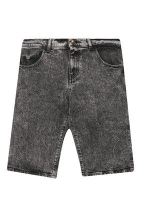 Детские джиновые шорты VERSACE серого цвета, арт. 1000229/1A00187/8A-14A | Фото 1