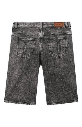 Детские джиновые шорты VERSACE серого цвета, арт. 1000229/1A00187/8A-14A | Фото 2