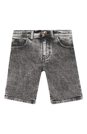 Детские джиновые шорты VERSACE серого цвета, арт. 1000229/1A00187/4A-6A | Фото 1