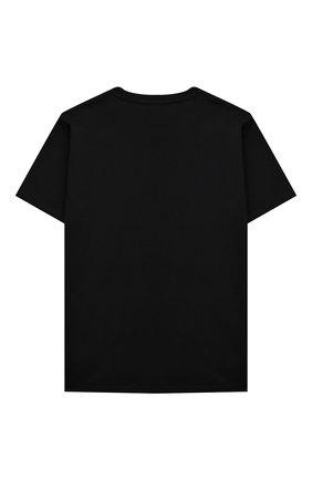Детская хлопковая футболка VERSACE черного цвета, арт. 1000239/1A00188/4A-6A | Фото 2