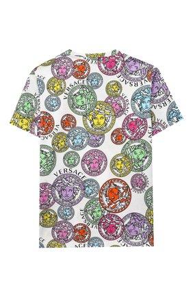 Детская хлопковая футболка VERSACE разноцветного цвета, арт. 1000239/1A00285/8A-14A | Фото 2