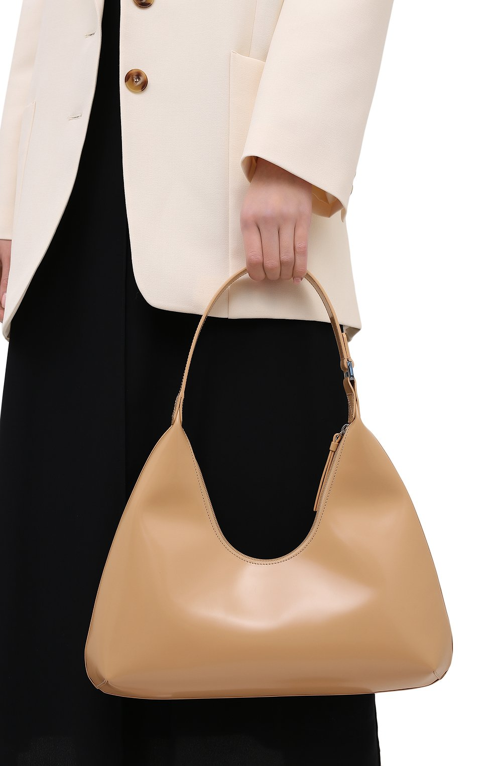 Женская сумка amber large BY FAR бежевого цвета, арт. 20PFAMRSCEWLAR | Фото 2