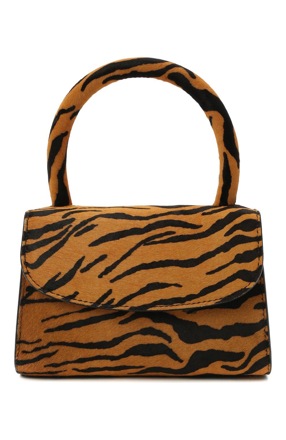 Женская сумка BY FAR коричневого цвета, арт. 21CRMINATGPYSMA | Фото 1 (Сумки-технические: Сумки через плечо, Сумки top-handle; Материал: Натуральная кожа, Натуральная замша; Размер: mini; Ремень/цепочка: На ремешке)
