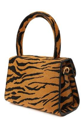 Женская сумка BY FAR коричневого цвета, арт. 21CRMINATGPYSMA | Фото 3 (Сумки-технические: Сумки через плечо, Сумки top-handle; Материал: Натуральная кожа, Натуральная замша; Размер: mini; Ремень/цепочка: На ремешке)