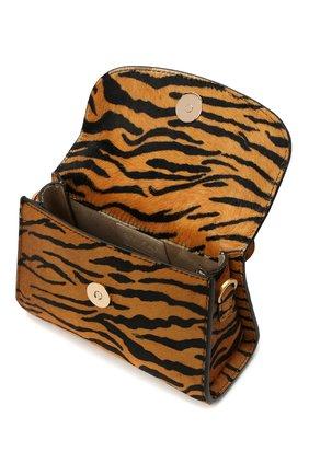 Женская сумка BY FAR коричневого цвета, арт. 21CRMINATGPYSMA | Фото 4 (Сумки-технические: Сумки через плечо, Сумки top-handle; Материал: Натуральная кожа, Натуральная замша; Размер: mini; Ремень/цепочка: На ремешке)