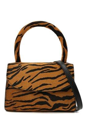 Женская сумка BY FAR коричневого цвета, арт. 21CRMINATGPYSMA | Фото 6 (Сумки-технические: Сумки через плечо, Сумки top-handle; Материал: Натуральная кожа, Натуральная замша; Размер: mini; Ремень/цепочка: На ремешке)
