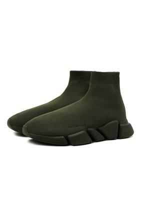 Мужские текстильные кроссовки speed 2.0 BALENCIAGA хаки цвета, арт. 617239/W2DB1 | Фото 1 (Материал внешний: Текстиль; Материал внутренний: Текстиль; Стили: Гранж; Подошва: Массивная)