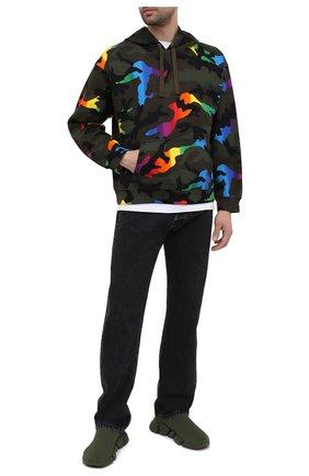 Мужские текстильные кроссовки speed 2.0 BALENCIAGA хаки цвета, арт. 617239/W2DB1 | Фото 2 (Материал внешний: Текстиль; Материал внутренний: Текстиль; Стили: Гранж; Подошва: Массивная)
