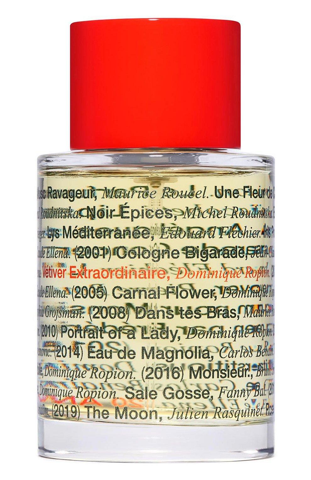 Мужской парфюмерная вода vetiver extraordinaire 20th anv FREDERIC MALLE бесцветного цвета, арт. 3700135017894   Фото 1