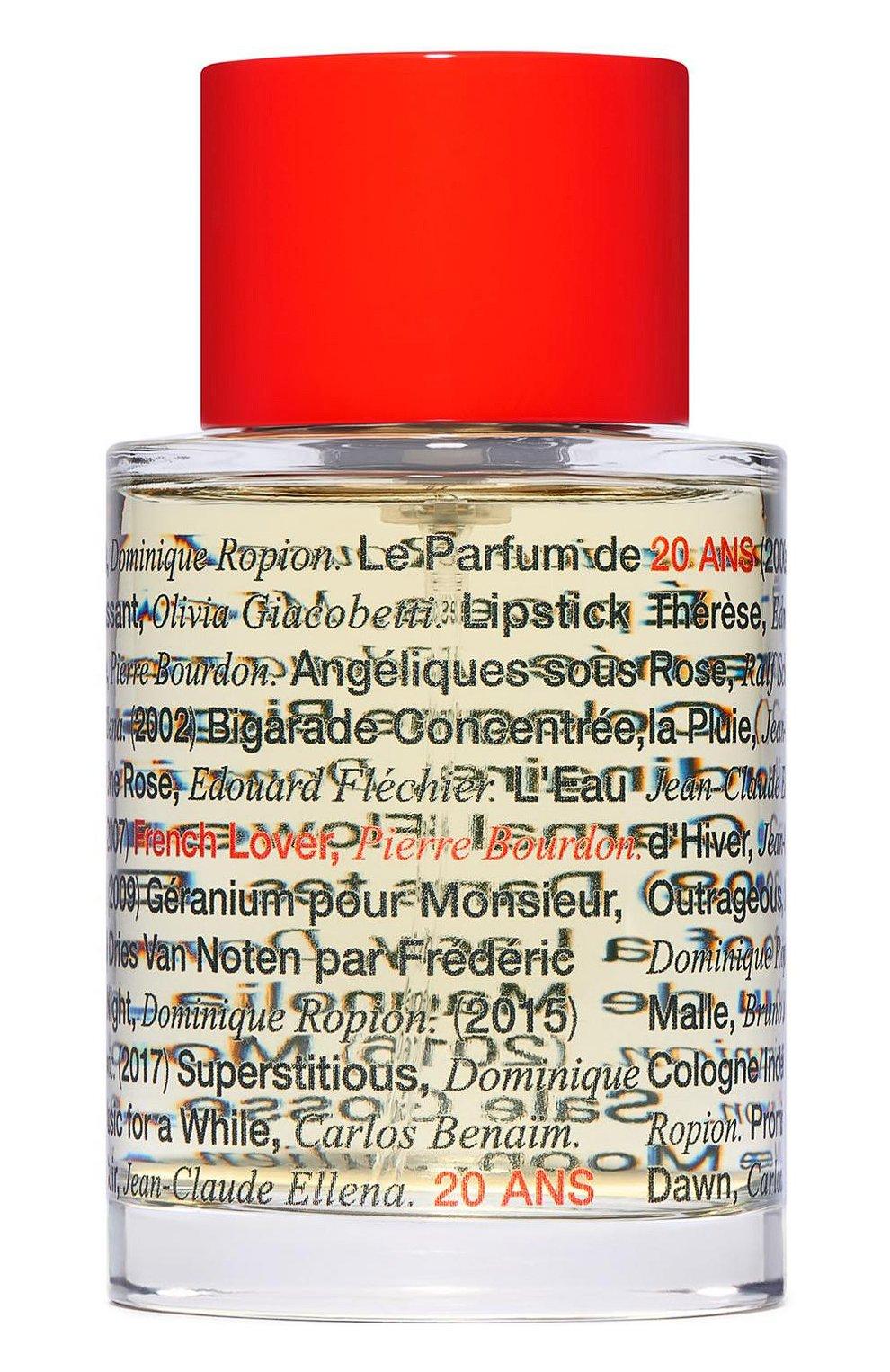Мужской парфюмерная вода french lover 20th anv FREDERIC MALLE бесцветного цвета, арт. 3700135017887   Фото 1