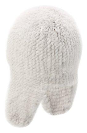 Женская шапка-ушанка из меха норки KUSSENKOVV светло-серого цвета, арт. 91650008433 | Фото 2