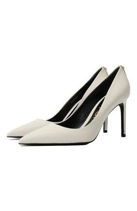 Женские кожаные туфли t-screw TOM FORD белого цвета, арт. W2326T-LCL002 | Фото 1