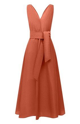 Женское хлопковое платье BRUNELLO CUCINELLI оранжевого цвета, арт. M0F79A4538 | Фото 1