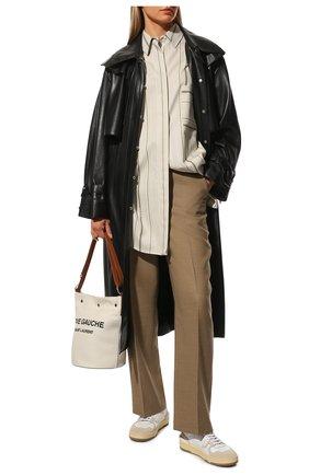 Женские текстильные кеды LANVIN белого цвета, арт. FW-SKDK00-NASH-A20 | Фото 2
