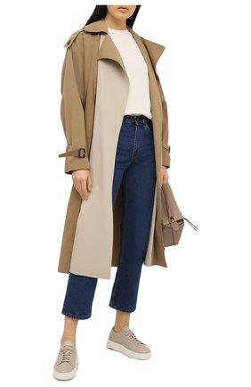 Женские кожаные кеды SANTONI темно-бежевого цвета, арт. WBCD60780BARCMEYE40   Фото 2