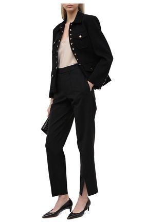 Женские кожаные туфли SANTONI черного цвета, арт. WDFC59293HA2TSZAN01 | Фото 2