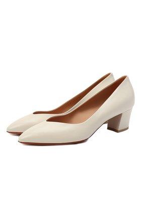 Женские кожаные туфли SANTONI белого цвета, арт. WDHC58609HI2NSZAG15 | Фото 1