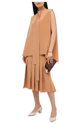 Женские кожаные туфли SANTONI белого цвета, арт. WDHC58609HI2NSZAG15 | Фото 2