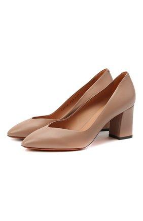 Женские кожаные туфли SANTONI бежевого цвета, арт. WDHZ58610HI2NSZAP29 | Фото 1