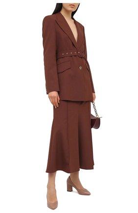 Женские кожаные туфли SANTONI бежевого цвета, арт. WDHZ58610HI2NSZAP29 | Фото 2