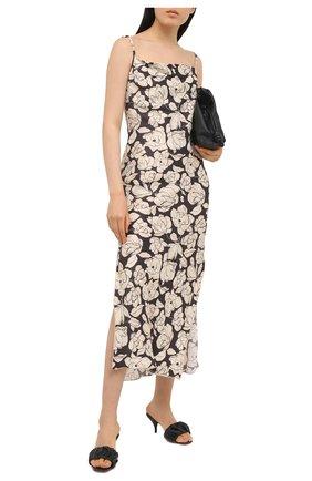 Женские кожаные мюли SANTONI черного цвета, арт. WHNS59289HA2TPPTN01   Фото 2