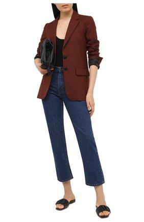 Женские кожаные шлепанцы SANTONI черного цвета, арт. WHYT59288HI1TPPTN01   Фото 2