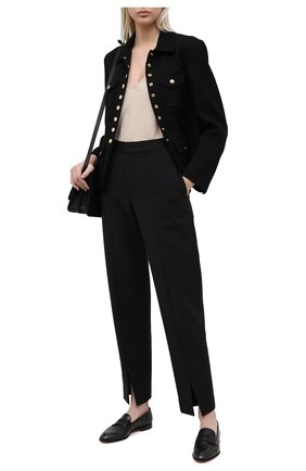 Женские кожаные лоферы SANTONI черного цвета, арт. WUSF57616HAFSLGAN01 | Фото 2