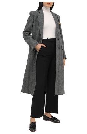 Женские кожаные лоферы SANTONI черного цвета, арт. WUSF58593HAFSLGAN01   Фото 2