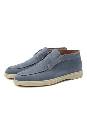 Женские замшевые ботинки SANTONI синего цвета, арт. WUYA58458TISNPYLZ45 | Фото 1