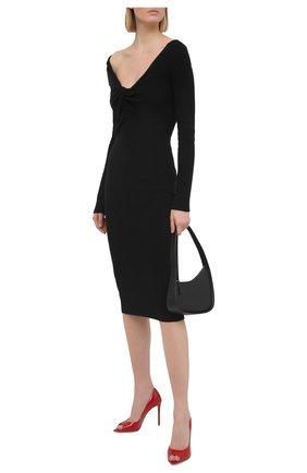 Женские кожаные туфли musa GIANVITO ROSSI красного цвета, арт. G50614.15RIC.VERTABS | Фото 2